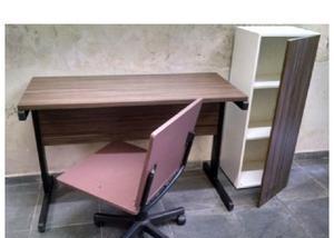 Móveis para escritório, mesa+cadeira gir+armário