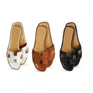 Atacado sandalia tipo hermes de couro 3 pares por r$ 120,00