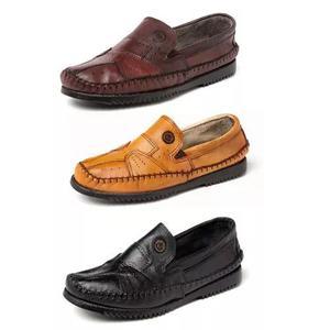 Kit 3 pares sapatilha couro legítimo masculina