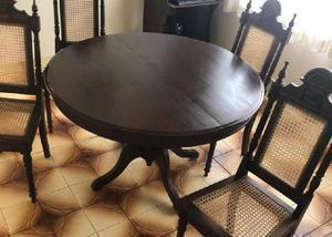 Mesa colonial 4 cadeiras estado de ok.