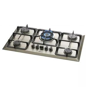 Fogão cooktop fischer 5 bocas tripla chama gás mesa inox