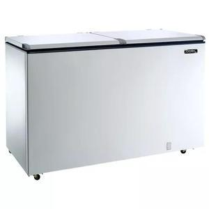 Freezer horizontal 2 tampas 439 litros efh500 220v esmaltec