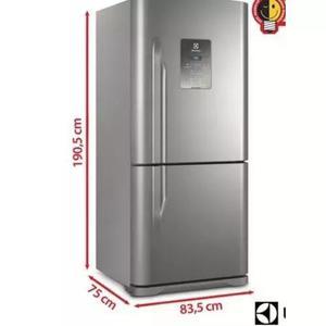 Geladeira bottom freezer electrolux 2 portas 598l inox db84