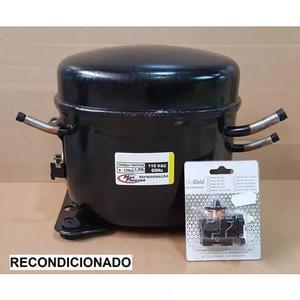 Motor compressor 1/4 hp 127v geladeira freezer r134a recond