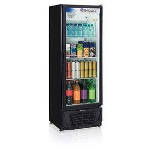 Refrigerador/expositor vertical gptu-40 preto 414l gelopar