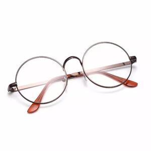 Armação de óculos d grau metal redondo masculino f