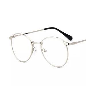 Armação de óculos - oval - unisex - super leve - dourada 726d6ee13c