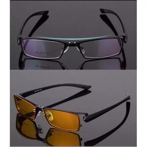 Armação masculina óculos grau clipon lentes escuras e