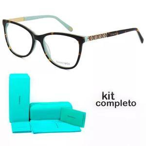 Armação oculos de grau tiffany & co. tf2099 kit azul