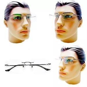 70baeabef80be Armação oculos grau masculino titanio aro flexivel