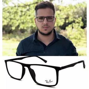 Armação Oculos Grau Masculino Tr90 R8562 Black Original