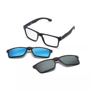 Armação oculos grau mormaii swap m6057a4156 clip on