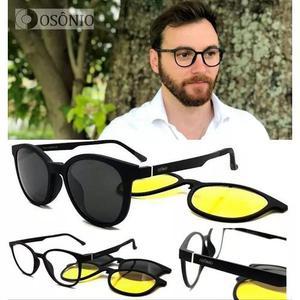 Armação oculos grau solar osônio os28 clip on tr90