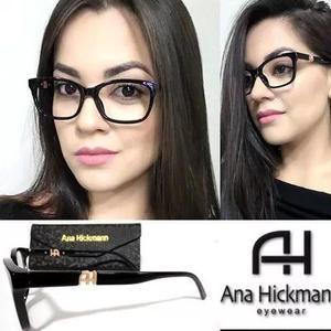f6c5d450e471c Armação p  óculos grau preto ah2018 grife lancamento +