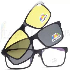 Armação óculos clip on night drive solar polarizado