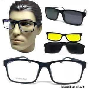 Armação óculos de grau clip on 3