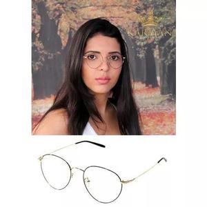 Armação óculos de grau geek retro redondo f