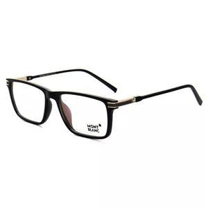 Armação óculos de grau masculino mont blanc mb568 acetato