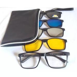 Armação óculos grau clip on polarizado night drive 2268