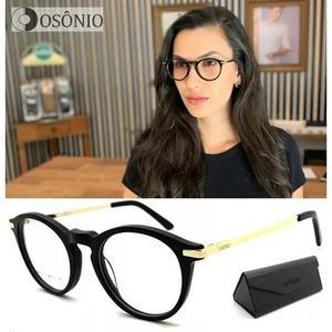 Armação Óculos Grau Osônio Os59 Redondo Original Unisex