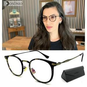 Armação óculos grau osônio os60 redondo original pr