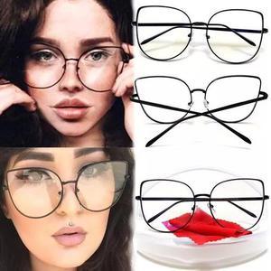 5f4399ebaab10 Armação óculos metal gatinho cat eye dourada retrô round
