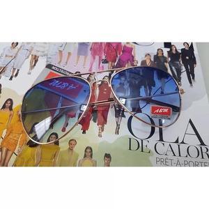b9a389816 R$ 79. Oculos de sol modelo aviador azul degrade c/ dourado unissex