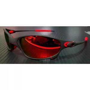 c2607d1a61fd2 Oculos juliet xmetal lente e borracha vermelha red fire