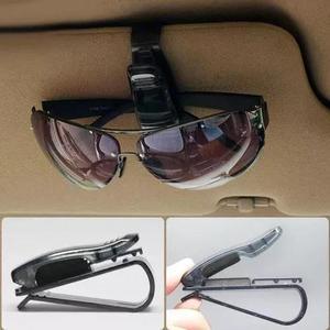 Porta óculos veículos suporte quebra sol para óculos