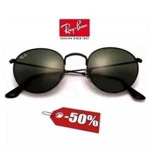 Ray ban round metal estiloso retrô óculos redondo