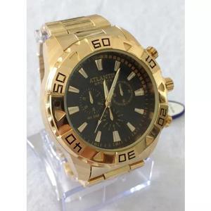 d0a1ae1148c Relógio dourado masculino original atlantis g-3243 sports.