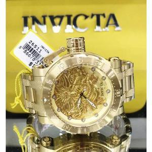 Relógio invicta coalition forces 26511 plaque ouro