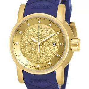 2d400f50cfe Relógio invicta dragon yakusa 18215 - dourado azul