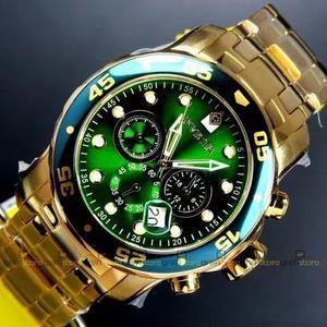 Relógio invicta pro diver 0075 verde original banhado a