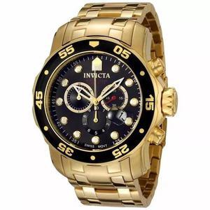 Relógio invicta prodiver 0072 dourado original na caixa nf
