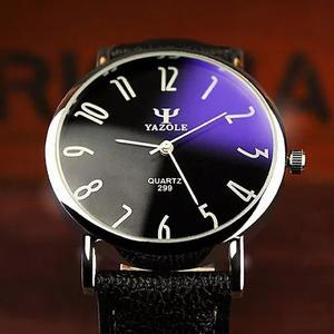 Relógio masculino barato original yazole brinde top