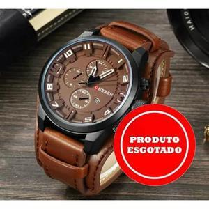 Relógio masculino curren 8225 original prova d'agua couro