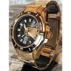 Relógio masculino exclusive atlantis original dourado +
