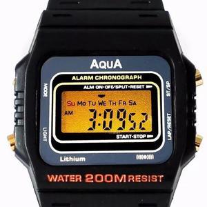 29b7858aed9 Relógio original aqua waterproof prova dagua c2 frete 9