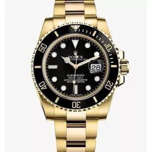 863615a30e9 Relógio rolex submariner dourado fundo preto em Brasil   REBAIXAS ...