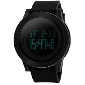 Relógio skmei sshock led digital black mega oferta