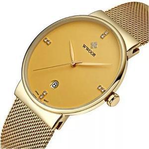 Relógio ultra fino wwoor original pronta entrega frete