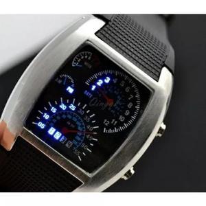 a7a8c3989a2 Relógio velocímetro led pulso masculino rpm pulseira preto em Brasil ...