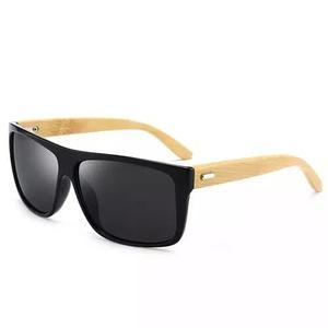 0c7b1e6b362eb Culos escuros de sol masculino hastes bambu preto lindo