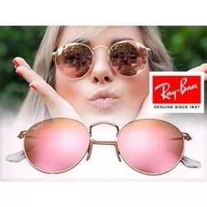 Culos rayban round rb3447 rosa espelhado redondo f