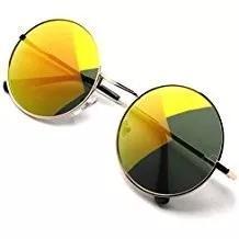 Culos sol redondo roundy amarelo lente espelhada +