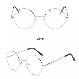 Armação 4,5cm redonda p/ óculos de grau retro vintage