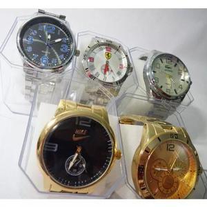 c951816737d Kit c  05 relógios masculinos aço atacado revenda