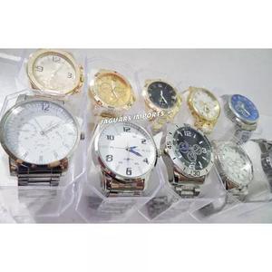 cacb181b4a7 Kit c  10 relógios masculino aço + brinde caixinhas