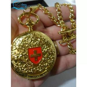 Lindo relógio de bolso colecionável quartzo importad